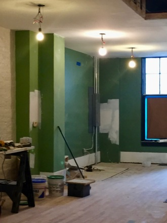The back is currently painted green