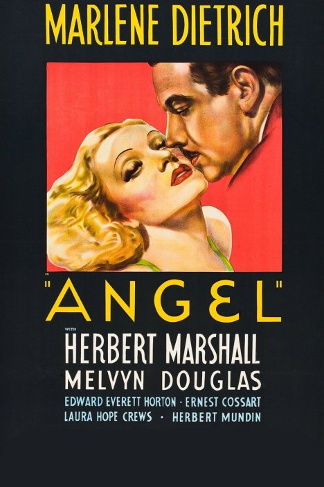 ANGEL, US poster art, from left: Marlene Dietrich, Herbert Marshall, 1937
